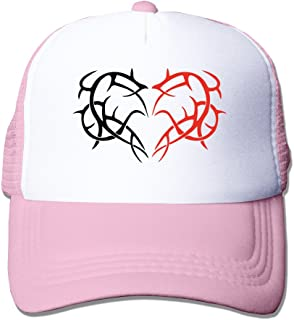Two Hearts Tattoos For Couples Baseball Cap Black
