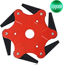 Upgrade Trimmer Head 6 Steel Blades Razors 65Mn Lawn Mower Blade Grass Weed Eater Brush Cutter Blade Tool Accessories