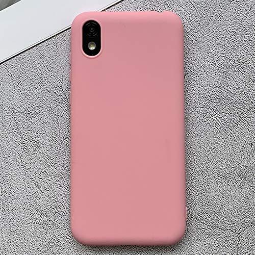 PHONETABLETCASE+ / for Compatible with Huawei Honor Play 3e Funda Protectora TPU Helada a Prueba de Golpes,Protección de la Cubierta de la Cubierta a Prueba (Color : Rosado)
