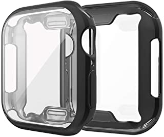 CASE U Soft Flexible TPU Screen Protector Protective Case for Apple Watch SE/Series 4 / Series 5 / Series 6 44mm - Black
