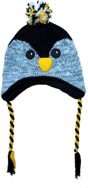AQUARIUS Popular brand in the world Boys Black Owl Peruvian Style overseas Critter Hat