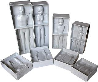 Set 24 Piezas Moldes de Plástico Fondant Familia Humanos por Kurtzy -Set Completo de Familia