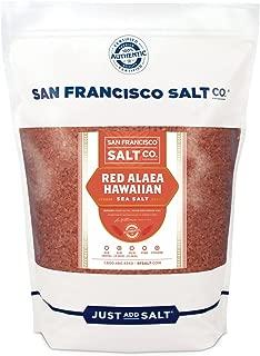 Red Alaea Hawaiian Sea Salt - 5 lb. Bag Coarse Grain by San Francisco Salt Company