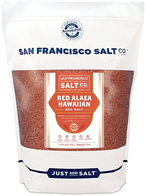 Red Alaea Hawaiian Sea Salt (5 lb. Bag - Coarse Grain) by San Francisco Salt Company xfwfsvsh625290