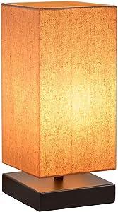 HENZIN Nachttischlampe Dimmbar Nachttischlampe für Schlafzimmer Schreibtischlampe mit Lampenschirm,Touch-Bedienung 5 Helligkeitsstufen Tischlampe für Schlafzimmer, Kaffeetisch and Büro