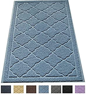 Easyology Large Cat Litter Mat/Cat Litter Trapping Mat/Litter Box Mat - Easy Clean, Extra Thick, Durable, Soft on Kitty Paws with Scatter Control, 35