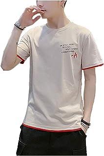 [ Smaids x Smile (スマイズ スマイル) ] 夏服 Tシャツ 半袖 無地 軽い 柔らか シルエット おしゃれ 人気 薄手 メンズ