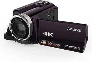 كاميرا فيديو رقمية واي فاي من أندور HDV-534K 48MP فل اتش دي بشاشة لمس سعوية 3 بوصة و الأشعة تحت الحمراء الليلية تدعم رؤية ليلية 16X زووم