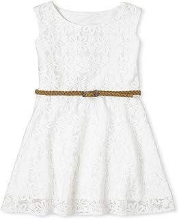 فستان سكيتر بحزام بدون أكمام للفتيات من ذا كيدز بليس