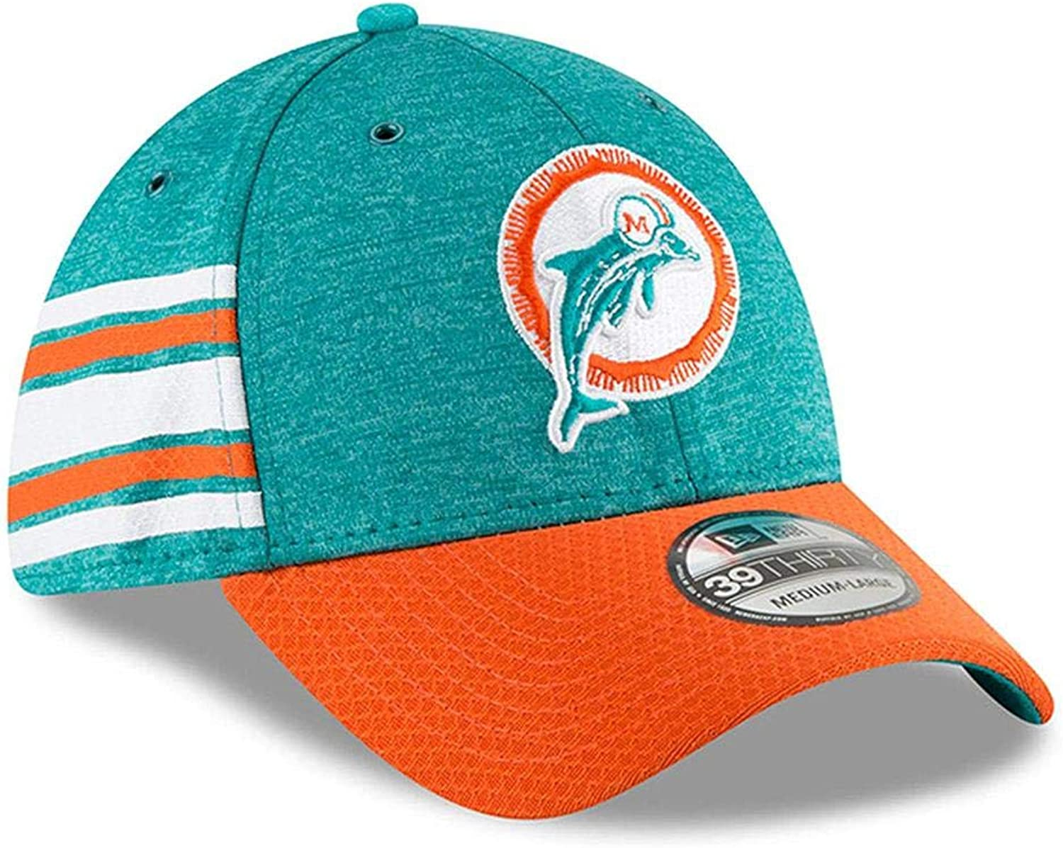 Miami Dolphins New Era 2018 NFL On Field Home 39THIRTY Cap