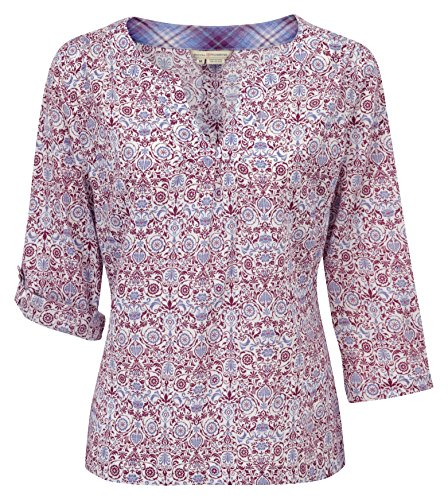Royal Robbins dames Oasis bedrukte trui top-Amethiste, X-Small