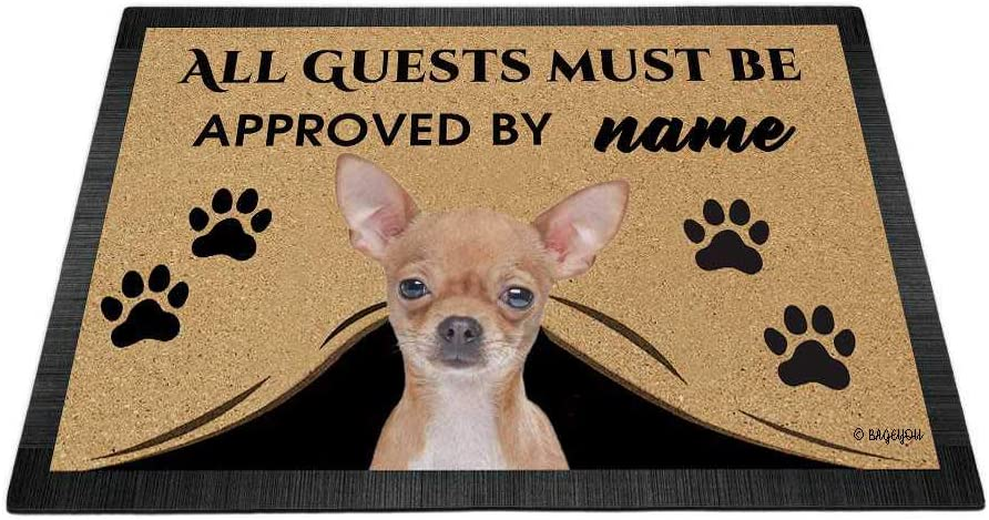 BAGEYOU Max 40% OFF All Guests Must be Approved Doormat Manufacturer regenerated product Chi Dog My Love with