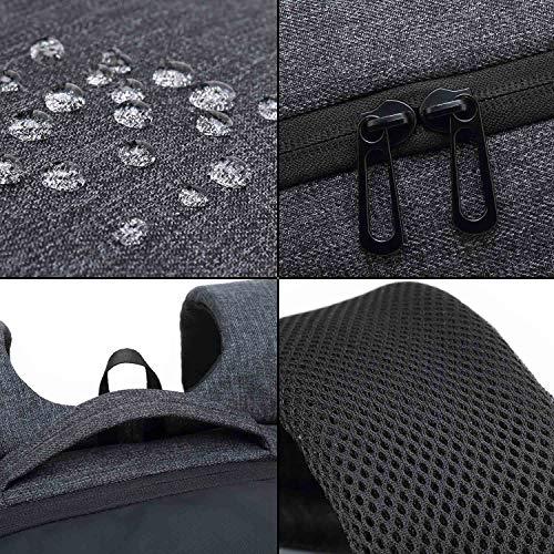 Neuleben Rucksack mit Schuhfach 15.6 Zoll Laptopfach Anti Diebstahl Multifunktion Wasserabweisend Reiserucksack Sportrucksack (Schwarz)