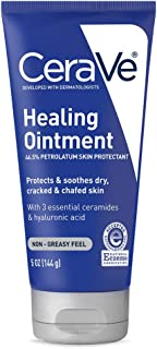 CeraVe Healing Ointment   5 Ounce   Cracked Skin Repair Skin Protectant with Petrolatum Ceramides   Packaging may Vary