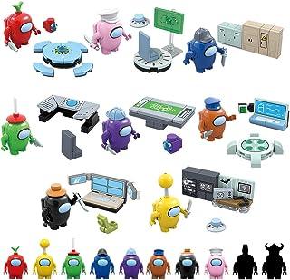 FBYED Bland oss byggstenar, 10 st bland oss spel rymden astronautfigurer dockor byggklossar pusselmontering leksaker samli...