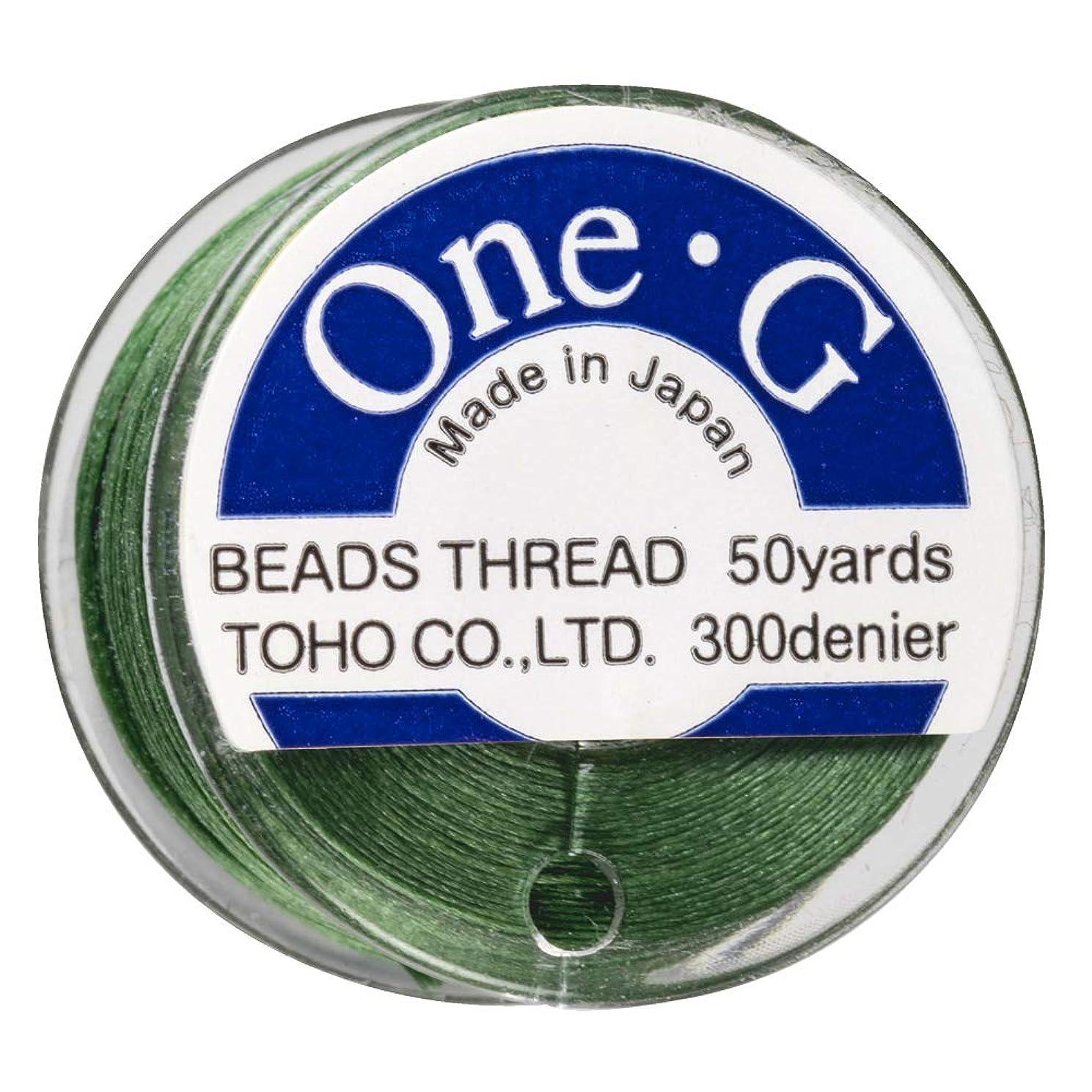 Toho One-G Beading Thread, 50-Yard (46-Meter) Bobbin - Green