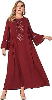 MAI&FUN Women's Dresses Long Sleeve Dress Casual Plus Size Maxi Dress Summer Dress Red