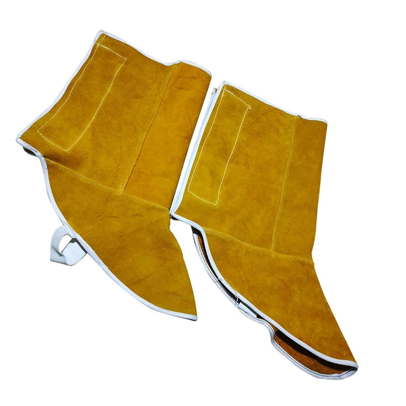複製パドル要求するBaosity 電気溶接 靴 シューズカバー フィートカバー 職場用 安全保護 火花飛沫防止 断熱 1対