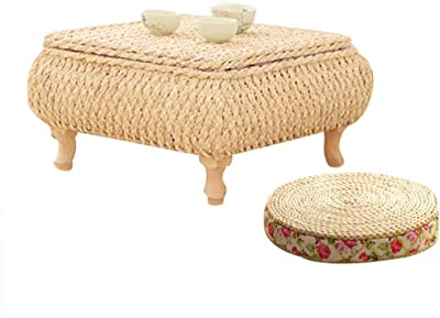 European Style Living Room Mini Coffee Table Small Table in Bedroom Children's Bedroom Learning Small Table Window sill Mini Viewing Table Small Table with Storage Basket