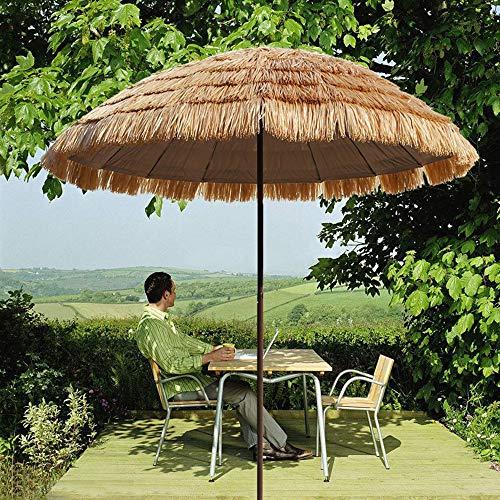 Ombrellone Umbrella Ombrello in Finta Paglia丨Ombrellone丨Ombrellone da Esterno 250 Cm丨Ombrellone Ombrellone Pulsante Ombrellone Ombrellone LDFZ