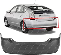 MBI AUTO - Primered, Rear Bumper Cover Replacement for 2004-2009 Toyota Prius 04-09, TO1100239