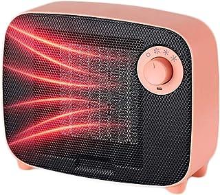 LTLJX Calefactor Cerámico Eléctrico, Baño 1500W Termoventiladores Ventilador Ajustables Calor y 3 Modo Aire Frío con Protección Sobrecalentamiento,Rosado