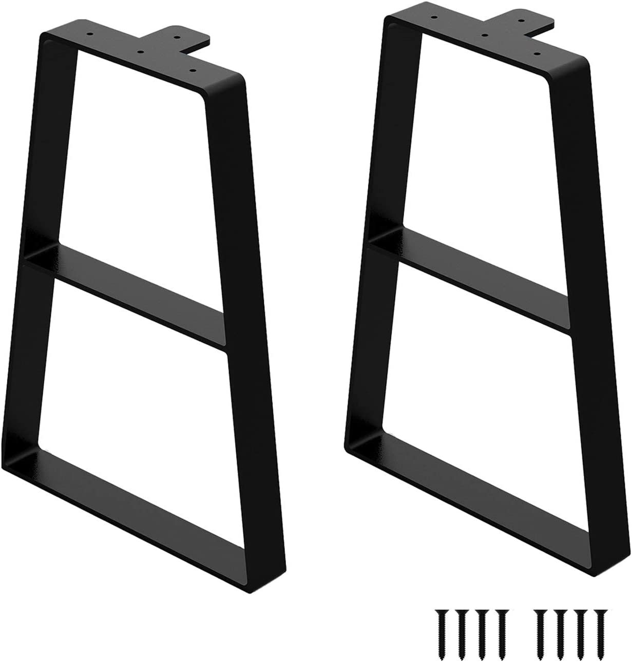 VitaPoria 16Inch Black Metal Max 84% OFF Bench Legs Trapezoid Table 2Pcs L At the price of surprise