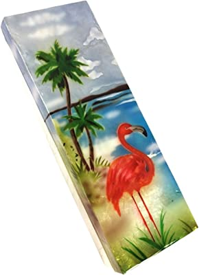 Can-Can Flamingos Gold Foil Match Box Set of 2 HomArt