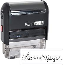 Custom Signature Stamp - Self Inking - Black Ink - Large