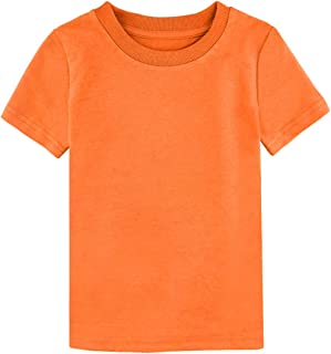 Toddler Heavyweight Cotton T-Shirts, Soft and Cozy, Size 12M-5T
