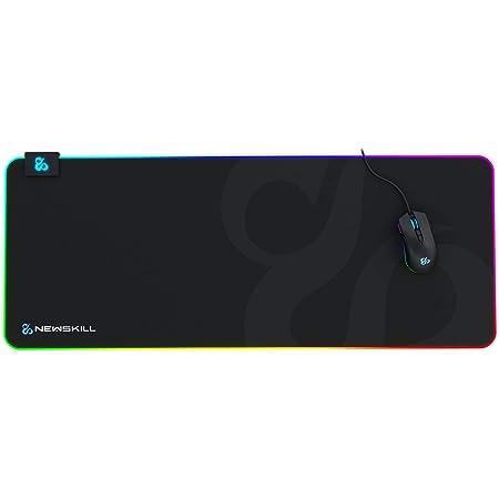 Newskill Nemesis V2 Alfombrilla Gaming RGB con Base de Goma Natural y Superficie de microfibras (retroiluminación RGB Alrededor de la Base) - Tamaño XL - Color Negro
