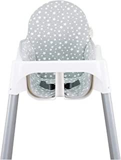 comprar comparacion JANABEBE Colchoneta para trona antilop Ikea (White Star)