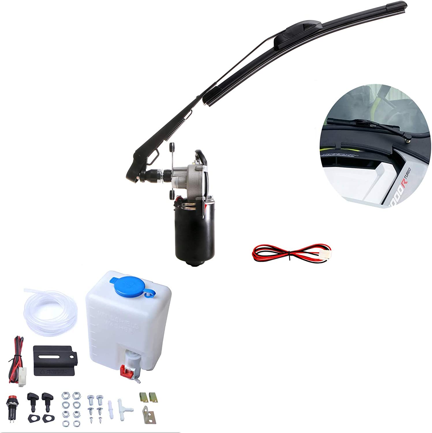 YiCross 12V Cheap super Sale SALE% OFF special price Electric Windshield Motor Washer Pump Wiper Kit Bot