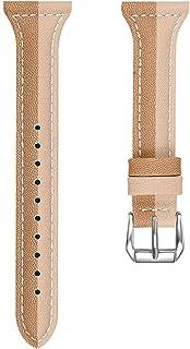 UKCOCO Bracelet de Montre Compatible pour Fitbit Versa/Fitbit Lite/Fitbit Versa 2 Cuir - Bracelet de Montre de Rechange po...