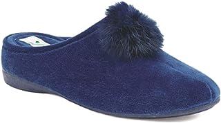 Susimoda 6818/13 Pantofole in Velluto Donna, Colore Bleu, Linea Comoda Woman