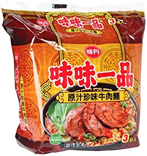 《味丹》 味味一品原汁珍味牛肉袋麺185g×3入(煮込牛肉ラーメン) 《台湾 お土産》 [並行輸入品]