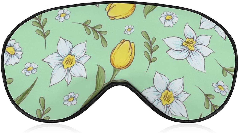 New color Soft Adjustable Eye Mask for Sleep 1 Print shop Flower