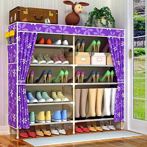 M-YN Zapatero Torre de Zapato de 6 Niveles de pie Organizador de Almacenamiento con Cubierta de Tela Oxford a Prueba de Polvo Organizador Gabinete Torre (Color : A)