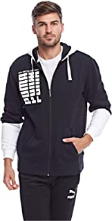 Puma Rebel Up FZ Hoody Black Pants For Unisex, Size M
