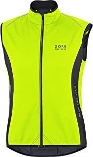 Gore Bike WEAR, Men´s, Thermal Cycling Vest, No Sleeves, Gore Windstopper Soft Shell Thermal, Power, Size S, Neon Yellow/Black, VPOWER