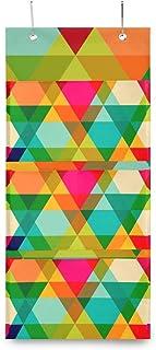XIXIKO Sac de rangement mural coloré à suspendre avec 3 poches pour vêtements, articles divers, école, chambre à coucher