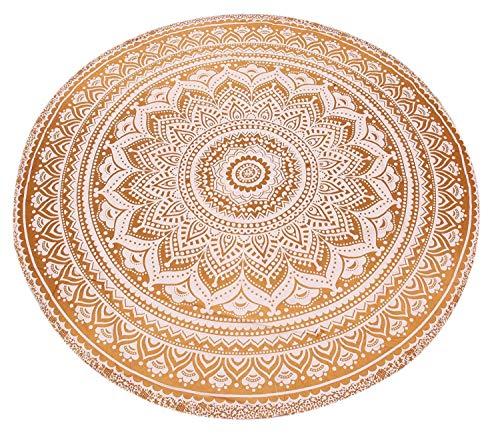Manta redonda, manta, tapicería Hippy Boho gitana, mantel de algodón,...