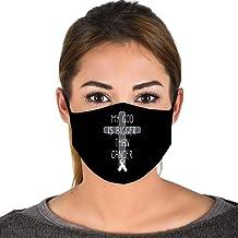 God is Bigger Than My Cancer - Faith Survivor Fighter Face Mask Balaclavas z Black