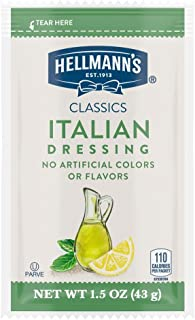 Hellmann's Classics Italian Salad Dressing Portion Control Sachets Gluten Free, No Artificial Flavors, Colors or High Fruc...