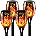 """Walensee Solar Lights Outdoor Upgraded 43""""(4 PACK) 96 LED Waterproof Flickering Flames Torch Lights Outdoor Solar Spotlights Landscape Decoration Lighting Dusk to Dawn Auto On/Off Security Torch Light"""