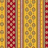 Tissu au mètre coton provençale Sormiou jaune rouge rayure