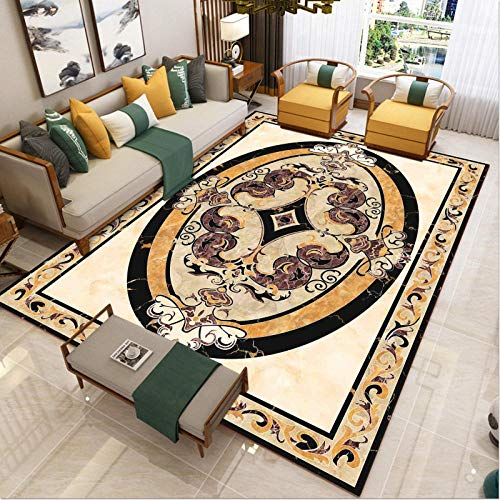 living room decorated with rugs in short pile area - Sofa and carpet ethnic country retro quality casual carved beautifully easy care-60x90cm