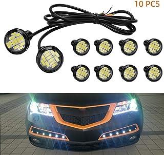 Zwbfu Lâmpada LED 23mm Eagle Eye, luz DRL ultrafina impermeável preto alumínio shell carro motocicleta luz do sinal de mud...