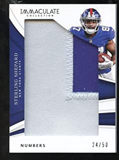 Sterling Shepard 2018 Panini Immaculate Collection Numbers #73/50 Football NY Giants NFL