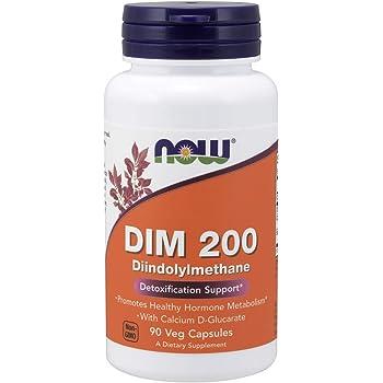 NOW Supplements, DIM 200 (Diindolylmethane) with Calcium D-Glucarate, 90 Veg Capsules